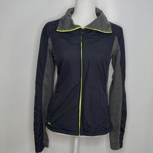 ASICS Gray Turtleneck Zipper Exercise Jacket (M)